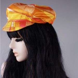 Mr. Paul Accessories - Vintage 60s Psychedelic Newsboy Hat